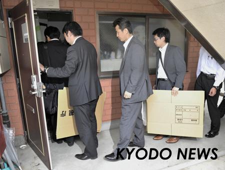 ◎東京の6億円強奪事件 捜索に入る捜査員  ◎東京の6億円強奪事件 捜索に入る捜査員 6億円強奪