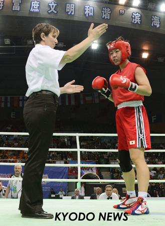 ◎ボクシング女子世界選手権 RSC宣告される山崎... ◎ボクシング女子世界選手権 RSC宣告さ