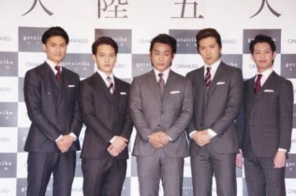 (左から)中村隼人、中村歌昇、片岡愛之助、尾上松也、中村壱太郎
