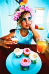 시골 여자라고 세련된 컵 케이크 먹고 싶은 것!적인 연구