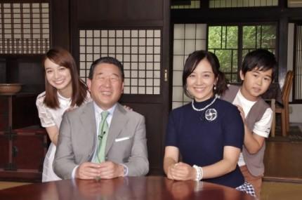 (左から)芹那、徳光和夫、西田ひかる、鈴木福