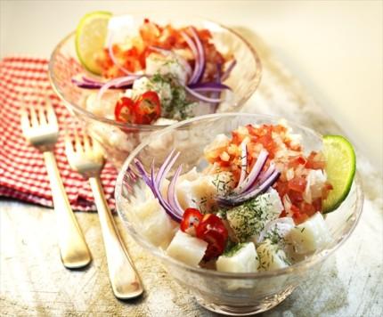 お刺身がおしゃれなおもてなし前菜に!南米発の「セビーチェ」レシピ 画像1