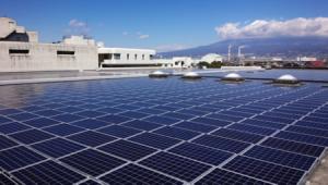 画像:静岡県最大級の屋根置き太陽光発電所が富士市西部浄化センターにSPNと国際L&Dにより完成