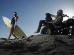 두 사람 먼저 정체에 빠지지 않고 바다에 가고 싶어!요즘 여자의 여름 오토바이 사정