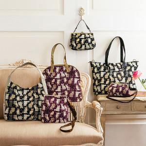 猫柄のゴブラン織りバッグ フェリシモから毎月1回お届け 画像1