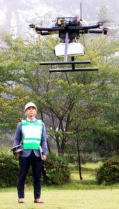 ドローン実験で産学官タッグ 神石高原に共同事業体 画像1